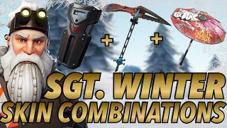 """SGT. WINTER"" SKIN BEST BACKBLING + SKIN COMBOS! (Season 7) (Fortnite) (2018)"