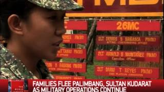 Families flee after military operations in Mindanao