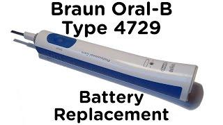 Керівництво по заміні батареї для Braun усної-B тип 4729 зубної щітки - професійний догляд