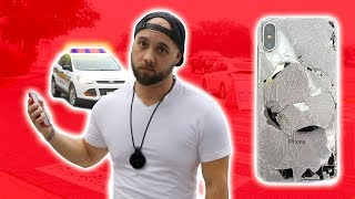 IPHONE X CRACKED SCREEN ON LAUNCH DAY! **kicked out of apple store for unboxing / drop test prank**