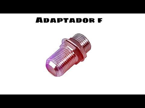 Video de Adaptador F hembra  Gris