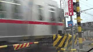 名鉄瀬戸線4000系(尾張瀬戸行) 瓢箪山-小幡間の踏切 2019.7.14