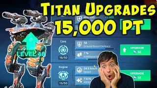 TITAN UPGRADES with 15,000 Platinum (Pt) War Robots 5.6 Update WR