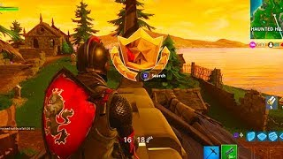 """""""Follow the Treasure Map Found in Snobby Shores"""" (Fortnite Season 5 Challenges)"""