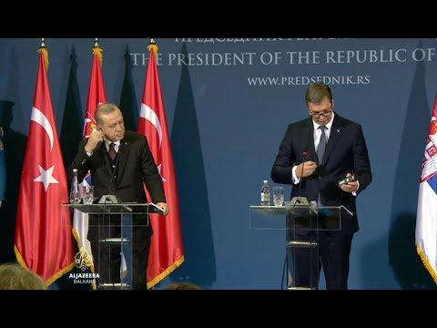 Poruke Vučića i Erdogana iz Beograda