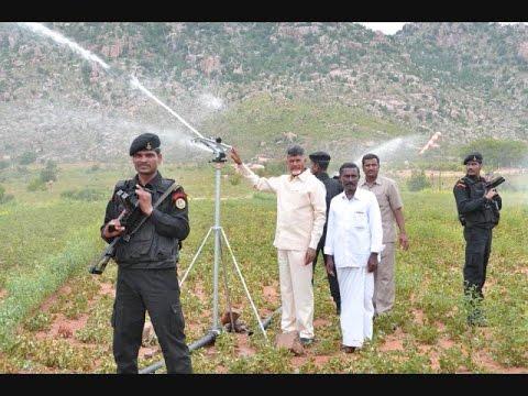 Chandrababu Naidu Inspect Rain Guns for...
