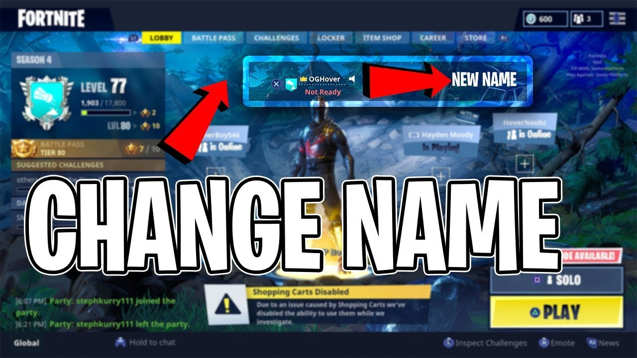 How to CHANGE your Fortnite Name on Console for FREE! PS4 ...