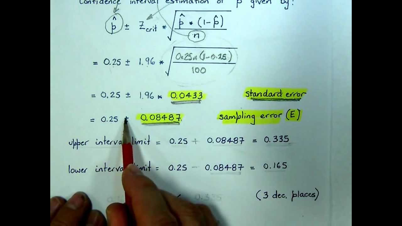 Lecture 7 Example Confidence Interval Estimation For The