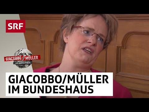 Magdalena MartulloBlocher und Toni Brunner im Bundeshaus  Giacobbo  Müller  SRF Comedy