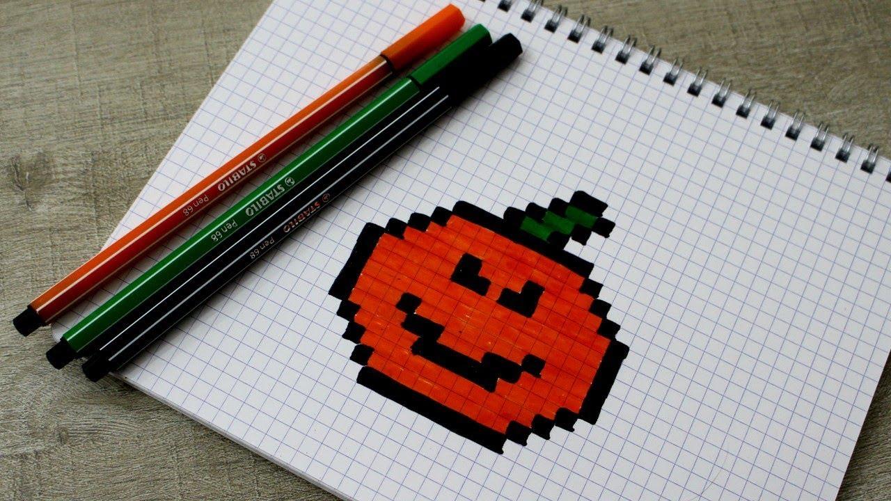 Pixel Art Citrouille Dhalloween