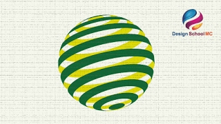 Create 3D Circle Logo Design in Adobe illustrator - Quick and Simple Logo Design Tutorial