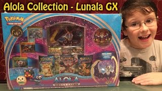 Opening the Pokemon Alola Collection Sun and Moon Lunala GX Box