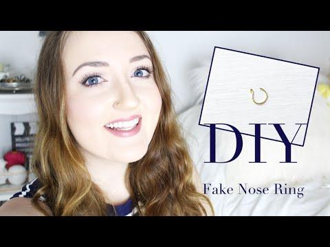 Diy Fake Nose Ring Youtube