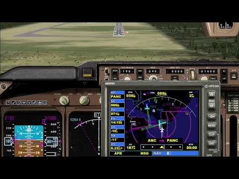 Landing at Ted Stevens Anchorage International Airport. FSX