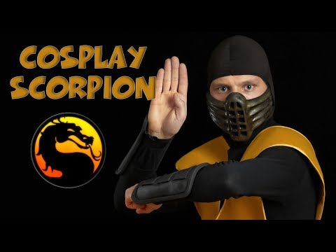 How to make Cosplay Scorpion?  How to make mask ? Mortal Kombat 1995.