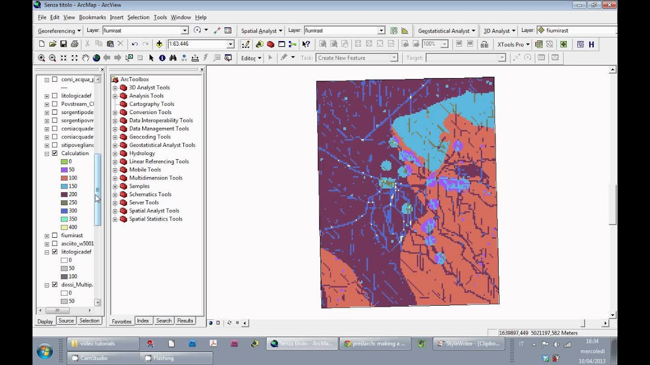Tutorial ArcGIS 9 3: Cost surface part 1