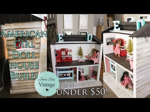 How to build an American Girl Doll house out of pallets | Under $50!