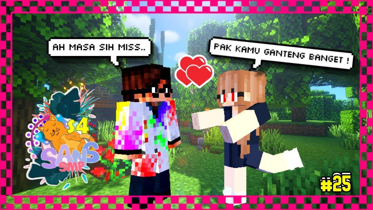 AKU JATUH CINTA SAMA GURU INI  ! SANS SMP SEASON 4 #25 -  Minecraft Indonesia
