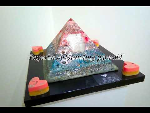Luci e colori nell'Arte, art exposition of my orgonite pyramids