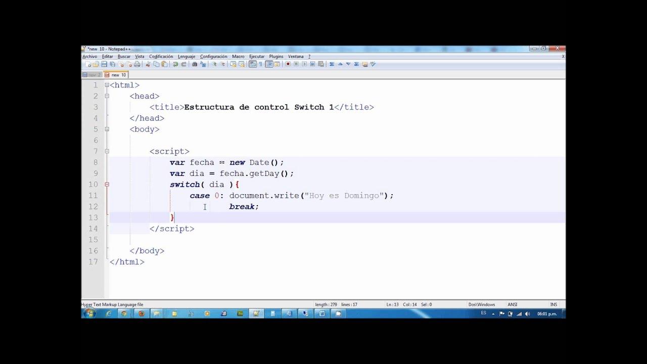 Estructura De Control Switch En Javascript Parte 1