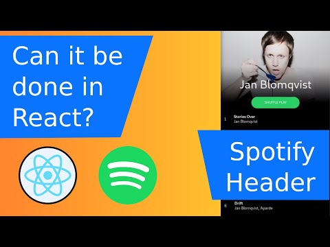 Spotify scrollable header - can it be done in React web? thumbnail