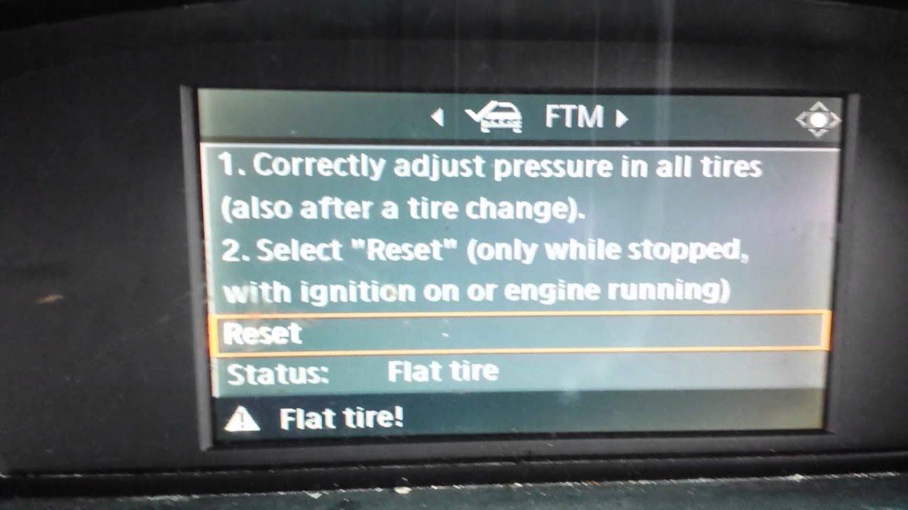 BMW 5 Series: FTM Flat Tire Monitor