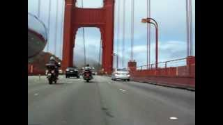 San Francisco Motorcycle Ride Across Golden Gate Bridge on a Suzuki C90 T