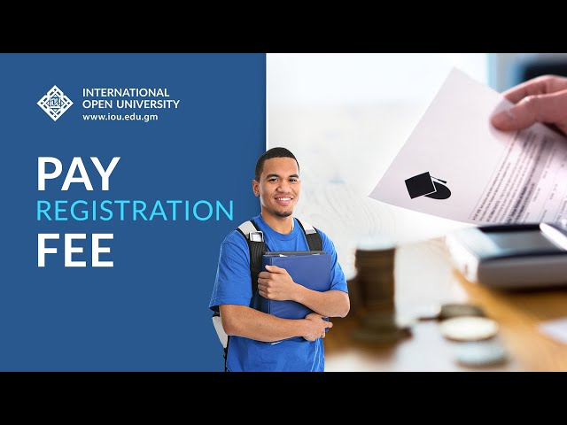 Pay Registration Fee - How-To Tutorials