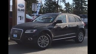 2013 Audi Q5 Premium W/ Leather, AWD Review| Island Ford