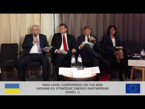 High-level conference on the new Ukraine-EU strategic Energy Partnership (panel 1)