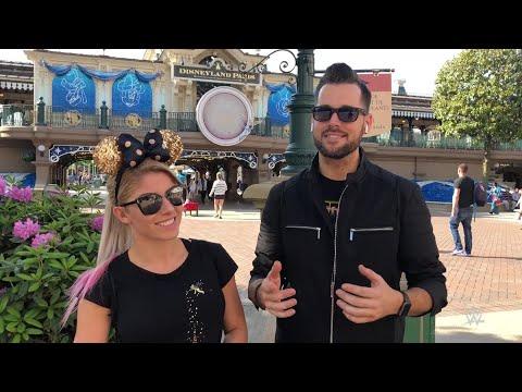 Alexa Bliss and Mike Rome visit Disneyland Paris