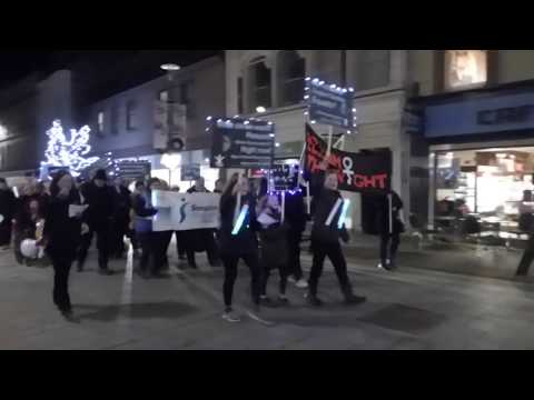 Reclaim The Night March High Street Perth Perthshire Scotland