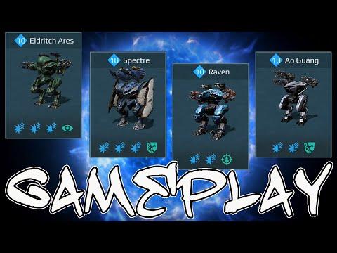 War Robots Eldritch Ares Spectre Raven Ao Guang  Kid Gameplay
