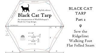 Black Cat Tarp: Part 2  Sew the Ridgeline: Walking Foot & Flat Felled Seam