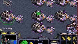 스타크래프트 빨무 팀플 4:4 테란 왕 자리여서 메카닉 갔습니다. (starcraft brood war fastest map 4vs4 terran play)