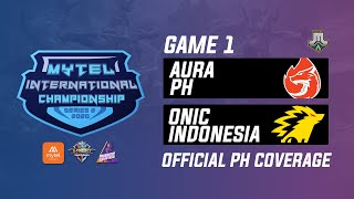 Aura PH vs Onic ID Game 2 Playoffs Mytel International Championship (BO3) | Just ML Mobile Legends