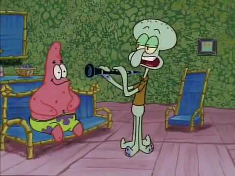 Squidward and Patrick: Squidward Plays Clarinet - YouTube