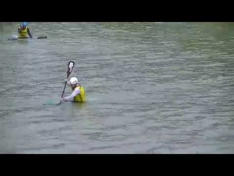 European Freestyle Kayaking Championships 2014 Squirt Boat Final - Alex Edwards Run 3