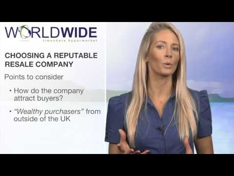 How To Sell A Timeshare - Choosing a reputable company