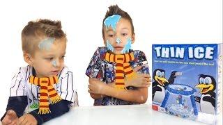 Челлендж Тонкий Лёд  Веселые Игры Для Детей DONT BREAK THE ICE CHALLENGE ! THIN ICE GAME