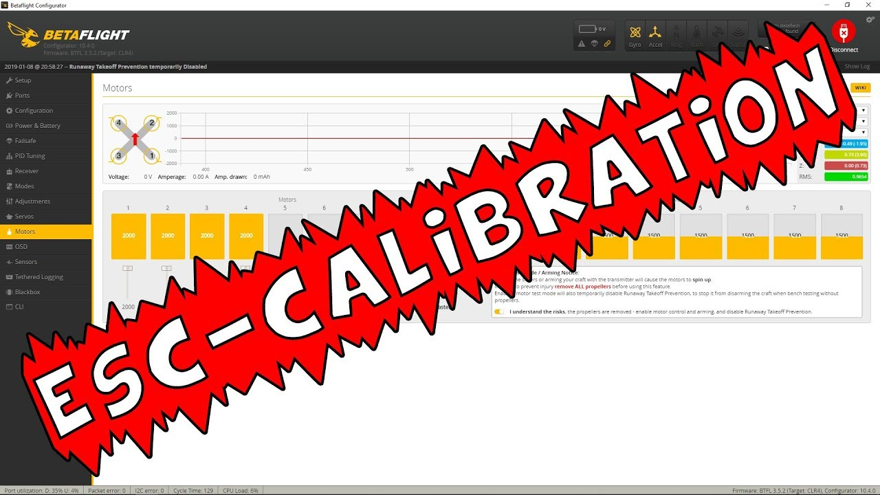 Tutorial: Betaflight ESC Calibration
