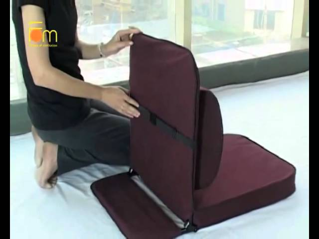Relaxing Buddha : Meditation Chair with detachable wide back support
