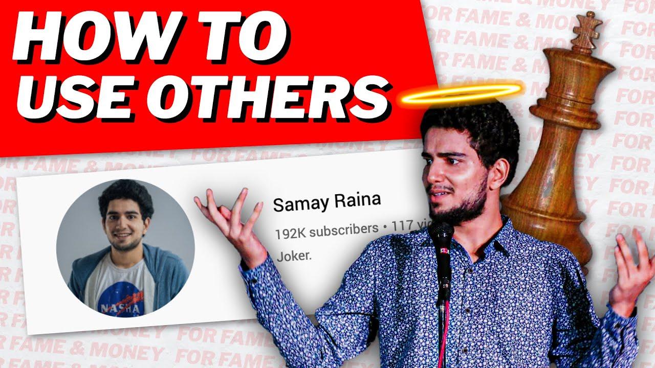 How @Samay Raina  EXPLOITS Others for Fame & Money 🤑