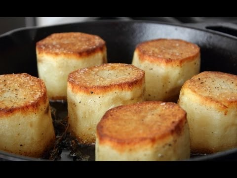 Fondant Potatoes - Crusty Potatoes Roasted with Butter and Stock