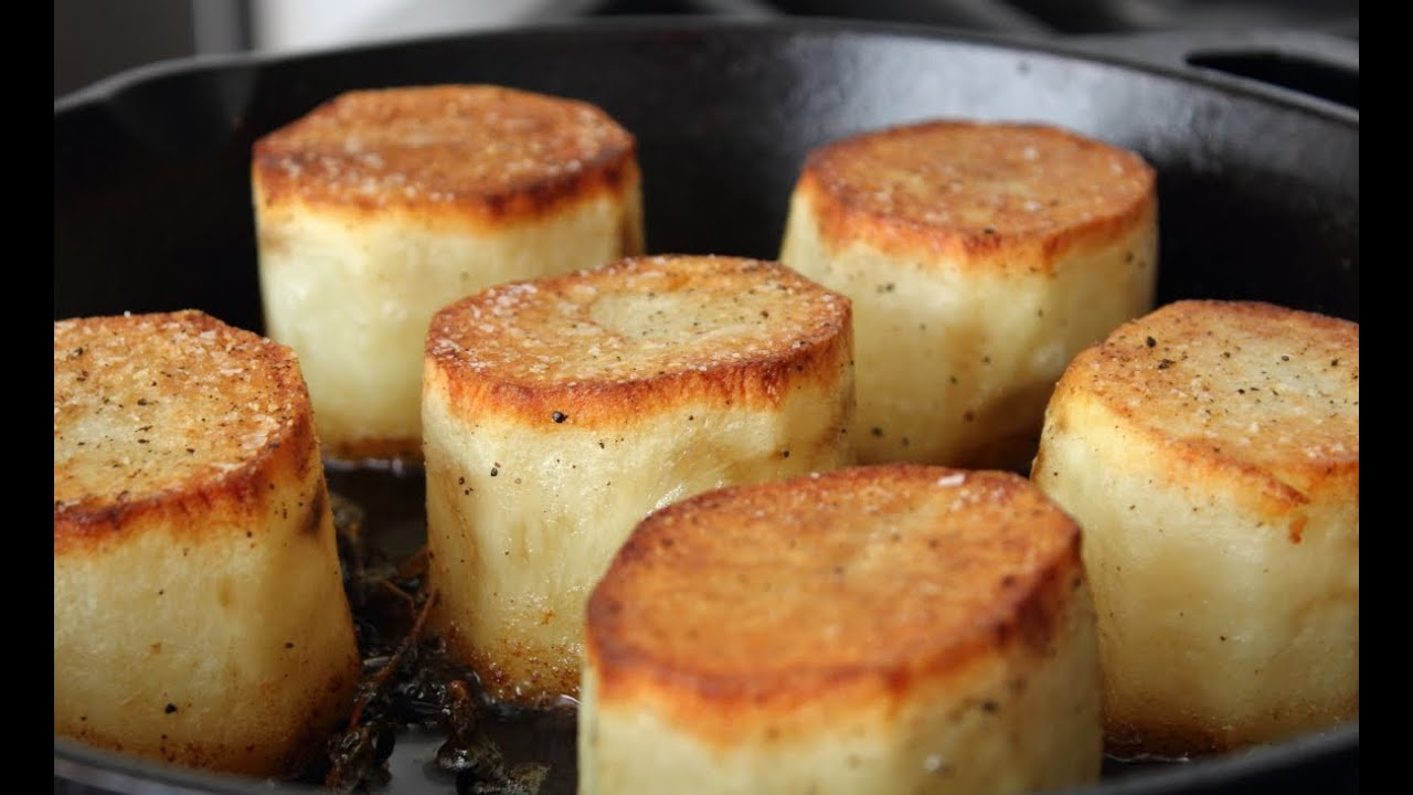Fondant Potatoes Crusty Potatoes Roasted With Butter And Stock Youtube