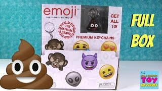 Emoji Brand Blind Bag Keychains Full Set Rare Chase Toy Review Opening | PSToyReviews