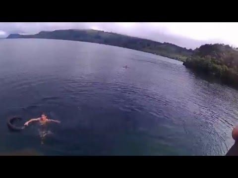 Swimming in Lake Taupo