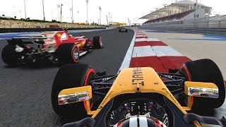 CLOSE SCRAPS & TYRE ISSUE HELPS US - F1 2017 Career Mode Part 123