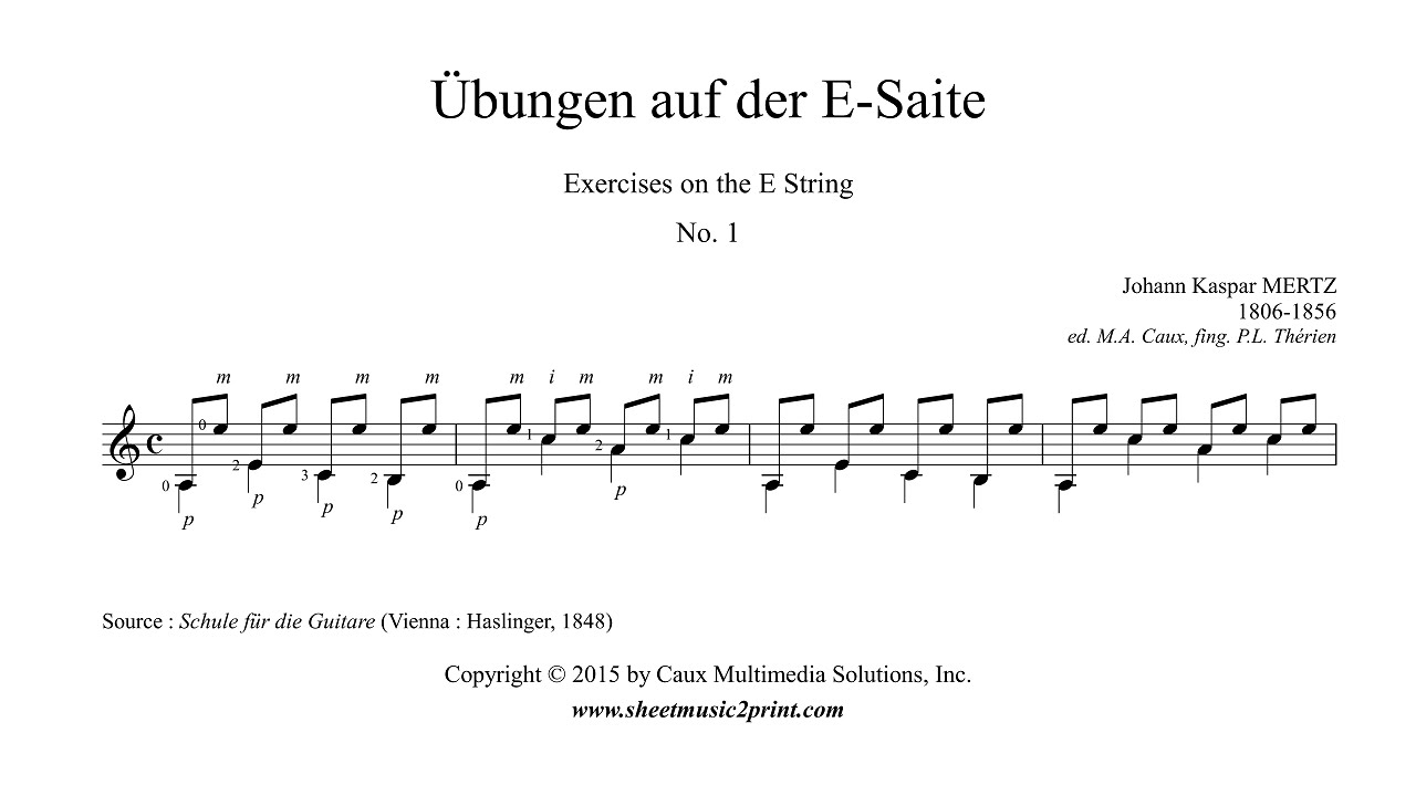 Mertz : Exercise 1 on the E String - YouTube