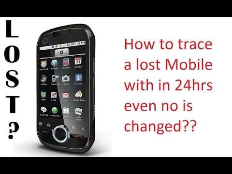 How To Trace Lost Mobile Phone In India